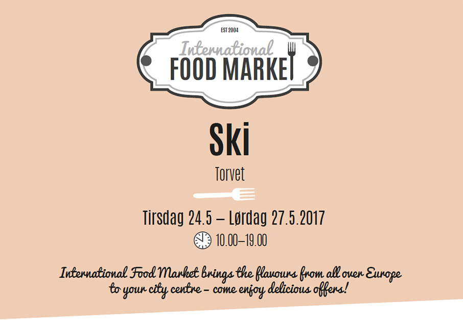 Nå kommer International Food Market til Ski